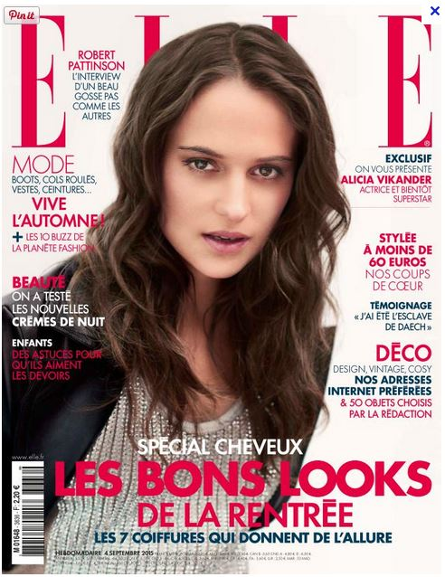 Couverture Magazine Elle Septembre 2015